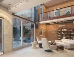 صحنه داخلی آپارتمان مدرن