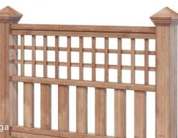 فنس چوبی باغ