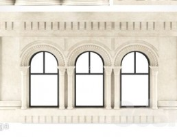 نمای بیرونی ساختمان سنگی کلاسیک
