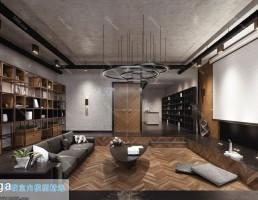 صحنه داخلی اتاق نشیمن به سبک مدرن