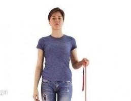 کاراکتر زن درحال پیاده روی با سگ