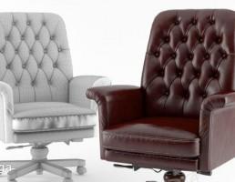 صندلی گردان چرمی