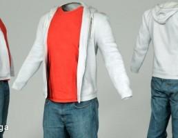 لباس مردانه- low poly