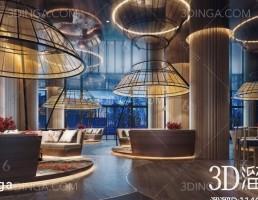 صحنه داخلی کافه سبک جنوب شرقی آسیا