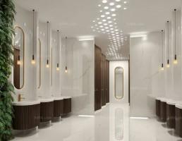 صحنه داخلی حمام و توالت مدرن 14