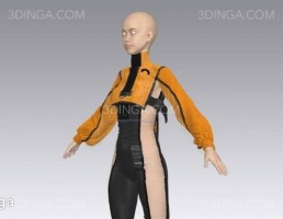 مدل سه بعدی لباس زنانه