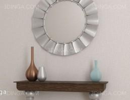 آینه و کنسول + گلدان تزیینی