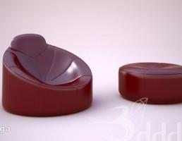 صندلی راحتی + پاف
