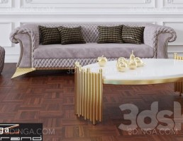 مبل راحتی + میز عسلی کلاسیک