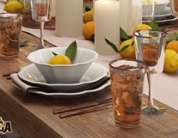 ست میز غذا شام + لیمو ترش