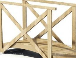 پل چوبی باغ