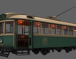 مدل سه بعدی تراموا کلاس 466