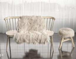 قالیچه پوست حیوانات + صندلی