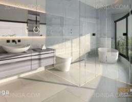 صحنه داخلی حمام و سرویس بهداشتی