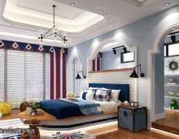 اتاق خواب مدیترانه ای
