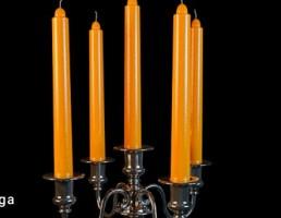 شمع + شمعدان کلاسیک