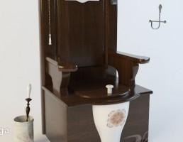 توالت فرنگی + ست اکسسوری