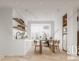 صحنه داخلی سالن غذا خوری سبک نودریک
