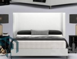 تخت خواب سفید ومشکی