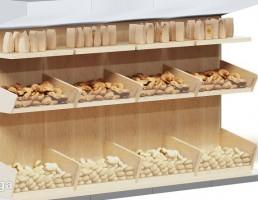 قفسه انواع نان سوپر مارکت
