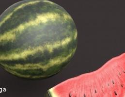 برشی از یک هندوانه