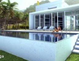 نمای خارجی خانه ساحلی