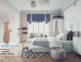 اتاق خواب کودک سبک نودریک