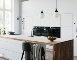 نمای داخلی آشپزخانه سفید