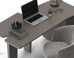 میز مدیریت + صندلی + چراغ مطالعه Minotti
