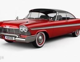 ماشین پلیموت مدل Fury coupe سال 1958