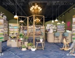 صحنه داخلی فروشگاه لوازم کودک