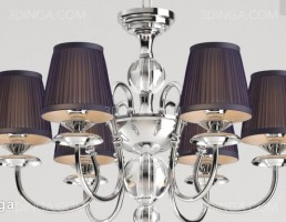 مدل سه بعدی لوستر کلاسیک
