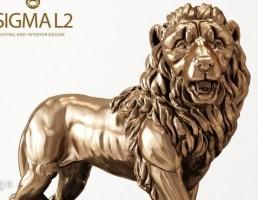 مجسمه شیر طلایی