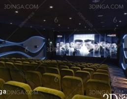 صحنه داخلی سینما مدرن