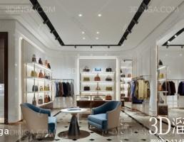 صحنه داخلی فروشگاه لباس