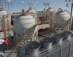 مخازن ذخیره پالایشگاه نفت