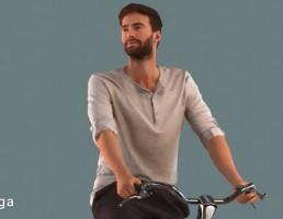 کاراکتر مرد دوچرخه سوار