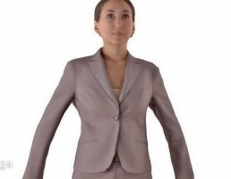 کاراکتر کارمند زن ایستاده