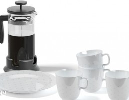 قهوه ساز دستی + فنجان قهوه