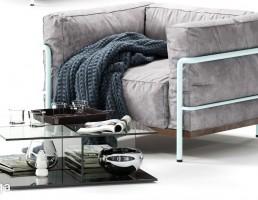 صندلی راحتی + جلو مبلی مدرن