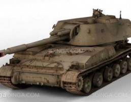 مدل سه بعدی تانک 2S3 آکاتسیا