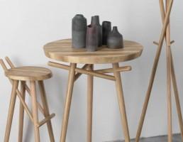 میزچوبی + وسایل تزیینی