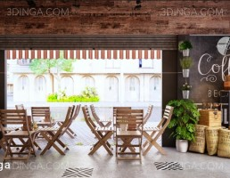 صحنه داخلی کافه