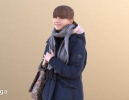 کاراکتر بچه در لباس زمستانی