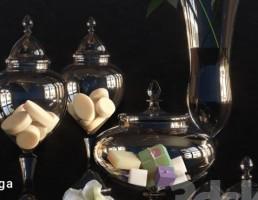 گلدان + شکلات خوری شیشه ایی