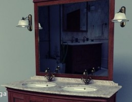 کمد روشویی + آینه