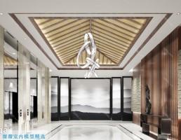 آسانسور و راهرو سبک چینی