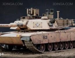 مدل سه بعدی تانک M1A2