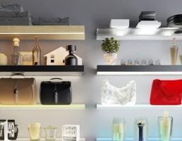 قفسه آرایشی-بهداشتی با نور پردازی