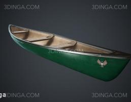 مدل سه بعدی قایق کلاسیک
